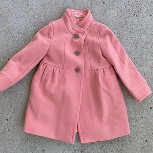 Crewcuts size 3 wool blend lined coat
